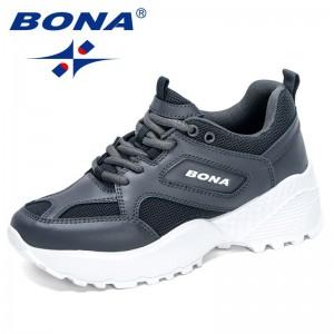 BONA 2021 New Designers Chunky Sneakers Women Luxury Brand Platform Shoes Ladies High Quality Fashion Leisure Footwear Female