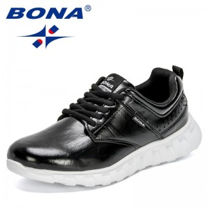 BONA 2021 New Designers Classics Casual Sneakers Fashion Shoes Men Brand Leisure Footwear Man Vulcanize Shoes Zapatos Hombre
