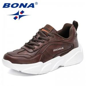 BONA 2021 New Designers High Quality Brand Luxury Platform Women Sneaker Shoes Fashion Ladies Casual Walking Footwear Shoes