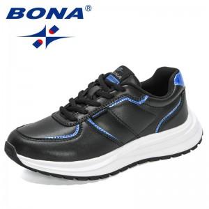 BONA 2021 New Designers Classics Casual Shoes Ladies Chunky Sneakers Women Luxury Brand Platform Shoes Feminimo High Quality