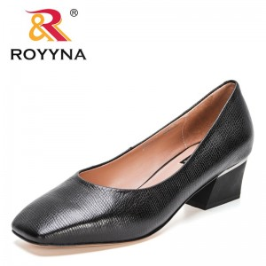 ROYYNAROYYNA 2021 New Designers Classic Genuine Leather Summer High Heels Women Dress Shoes Office Wedding Party Shoes Ladies Footwear