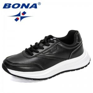 BONA 2021 New Designers Classics Casual Shoes Woman Comfortable Flats Platform Sneakers Ladies Leisure Footwear Chaussure Femme