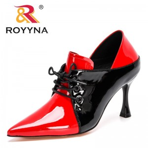 ROYYNA 2021 New Designers Women's Pointed Toe Sexy Thin High Heels Shoes Ladies Elegant Pump Woman Office Dress Work Footwear