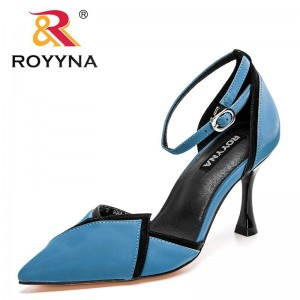 ROYYNA 2021 New Designers Elegant Women Pump High Thin Heels Basic Concise Casual Office Career Comfortable Feminimo Shoes