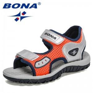 BONA 2021 New Designers Summer Sandals Child Soft Comfortable Children's Shoes Outdoor Beach Kids Lightweight Sandals Trendy