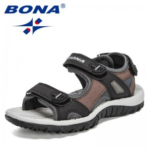 BONA 2021 New Designers Summer Children's Sandals Boy Beach Shoes Soft Bottom Non-slip Kids Sports Sandal Leisure Footwear Comfy