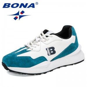 BONA 2021 New Designers Flats Casual Shoes Women Breathable Trendy Sneakers Ladies Leisure Shoe zapatillas mujer chaussure femme