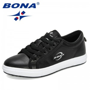 BONA 2021 New Designers Classics Flats Sneakers Women Popular Casual Breathable Shoes Female Vulcanized Shoes Leisure Footwear