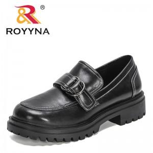 ROYYNA 2021 New Designers Luxury Genuine Leather Brand Chucky Platform Loafers Women Buckle Thick Bottom Dress Shoes Feminimo