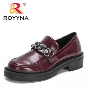 ROYYNAROYYNA 2021 New Designers Genuine Leather Shoes Women Round Toe Chunky Platform Pumps Ladies Fashion Strap Buckle Shoes Feminimo