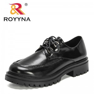 ROYYNAROYYNA 2021 New Designers Lace Up Girls Platform Heels Shoes Ladies Small Leather Shoes Women Chunky Heel Pump Office Dress Shoe
