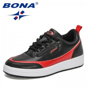 BONA 2021 New Designers Classic Walking Shoes Women Chunky Platform Luxury Brand High Quality Footwear Woman Vulcanized Shoes