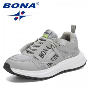 BONA 2021 New Designers Luxury Brand Sneakers Woman Chunky Heels Thick Bottom Breathing High Quality Vulcanized Shoes Feminimo