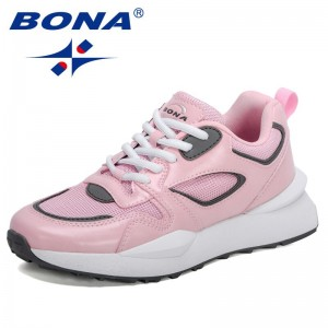 BONABONA 2021 New Designers High Quality Sneakers Women Brand Luxury Casual Shoes Woman Vulcanize Shoes Ladies Leisure Footwear Soft