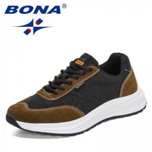 BONA 2021 New Designers Casual Shoes Men Brand Outdoor Man Sneakers Walking Shoes Mansculino Leisure Footwear Zapatillas Hombre