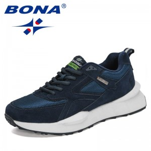 BONA 2021 New Designers Classic Luxury Brand Casual Shoes Men Breathable Anti-Odor Sneakers Man Leisure Footwear Mansculino Soft