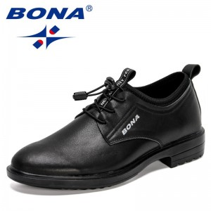 BONA 2021 New Designers Genuine Leather Footwear Semi-Formal Shoes Men Loafers Thick Sole Party Shoes Mansculino Zapatos Hombre