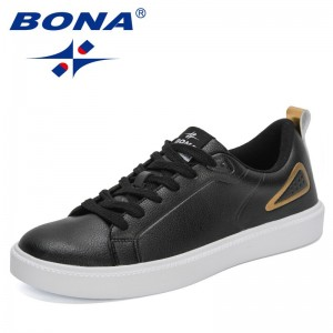 BONA 2021 New Designers Luxury Brand Sneakers Men Fashion Flat Casual Vulcanized Shoes Man Walking Leisure Footwear Mansculino