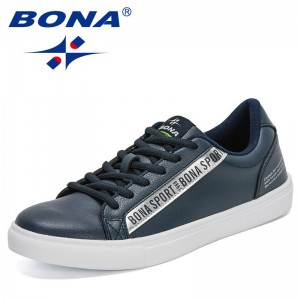 BONA 2021 New Designers High Quality Casual Shoes Men Luxury Brand Original Sneakers Man Leisure Footwear Soft Zapatillas Hombre