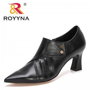 ROYYNA 2021 New Designers Genuine Leather High Heels Pumps Shoes Woman Classics Dress Shoes Feminimo Party Office Wedding Shoes
