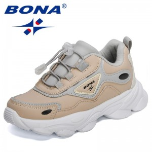 BONA 2021 new Designers Fashion Sneakers Kids Outdoor Trainers Children School Sport Shoes Soft Running Shoes Child Footwear