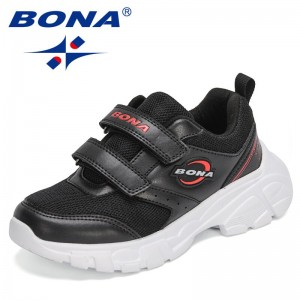 BONA 2021 New Designers Popular Sports Shoes Children High Quality Outdoor Comfy Sneaker Boys Girls Leisure Trainers Shoes Kids