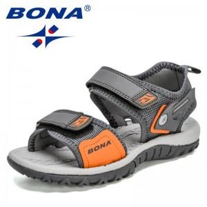 BONA 2021 New Designers Chunky Sandals for Children Fashion Platform Sandal Child Casual Wedges Sandals Kids Sport Sandals Comfy