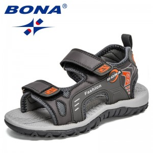 BONA 2021 New Designers Fashion Boys Beach Shoes Kids Soft Sole Summer Shoes Children's Sports Sandals bambini Sandalias Comfy