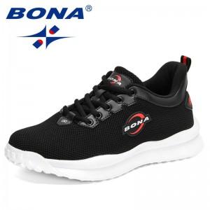 BONA 2021 New Designers Luxury Air Mesh Sneakers Men Casual Shoes Man Walking Shoes Mansculino Chaussure Homme Zapatos de Hombre