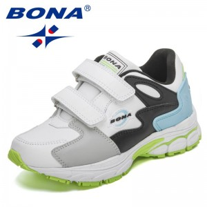 BONA 2021 New Designers Sports Shoes High Quality Outdoor Sneakers Children Leisure Trainers Shoes Kids Casual Sneakers Boy Girl