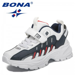 BONA 2021 New Designers Casual Sneakers Chilkdren Trendy Walking Shoes Kids Breathable Running Sports Shoes Athletic Shoes Child