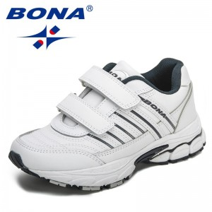 BONA New Designers Action Leather Sneakers Men Outdoor Running Shoes Men Sports Shoes Walking Athletic Trainers Male Trendy