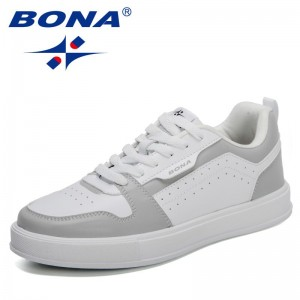 BONA 2021 New Designers Popular Skateboard Shoes Men Fashion Sneakers High Quality Trainers Shoes Man Casual Footwear Mansculino
