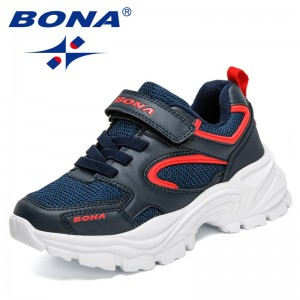 BONA 2021 New Designers High Quality Children Shoes Breathable Comfortable Kids Sneakers Fashion Casual Sports Shoes Girls Boys