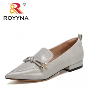 ROYYNA 2021 New Designers Elegant Lower Heel Womens Shoes Fashion Sweet Comfort Single Shoes Woman Office Dress Shoes Feminimo