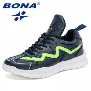 BONA 2021 New Designers Luxury Brand Fashion Casual Shoes Men High Quality Popular Sneakers Man Leisure Shoes Zapatillas Hombre