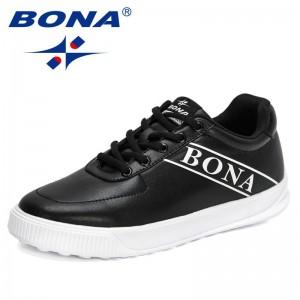 BONA 2021 New Designers Luxury Brand Business Men Shoes Casual Sneakers Man Fashion Lace Up Flat Walking Footwear Mansculino
