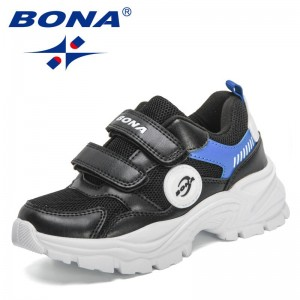 BONA 2021 New Designers Casual Shoes High Quality Luxury Brand Shoes Girls Boys Sports Running Big Kids Sneakers Tennis Footwear