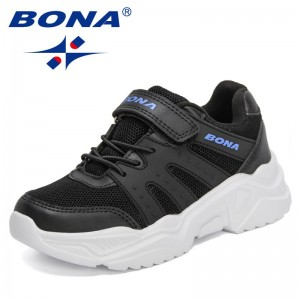 BONA 2021 New Designers Classics Sneakers for Children Casual Shoes Boys Sports Soft Non-Slip Sole Breathable Shoes Kids Trendy