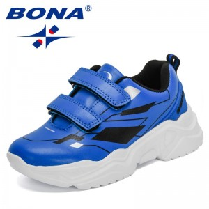 BONA 2021 New Designers Fashion Sneakers Breathable Shoes Children Outdoor Sport Walking Footwear Kids Comfortable Tenis Shoes