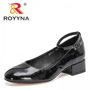 ROYYNA 2021 New Designers Patent Leather British Style College Style Casual Loafers Women Office Dress Shoes Ladies Wedding Shoe