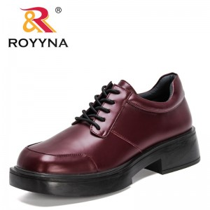 ROYYNA 2021 New Designers Lace Up Pumps Women Square Heel Square Toe Shoes Ladies British Style Shoes Low Top Student Shoes Soft