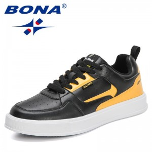BONA 2021 New Designers Casual Shoes Man Fashion Sneakers Men Flat For High Quality Luxury Brand Leisure Footwear Mansculino