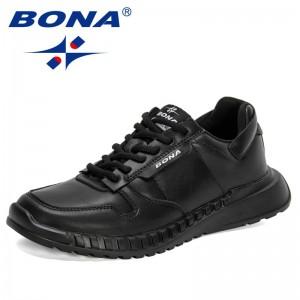 BONA 2021 New Designers Luxury Brand Sneakers Men City Leisure Shoes Man Casual Shoes Breathable Walking Footwear Mansculino