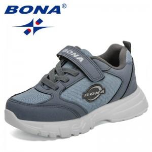 BONA 2021 New Designers Classics Sneakers Boys Sport Fashion Spring Summe Children Sneakers Brand Walking Jogging Footwear Child