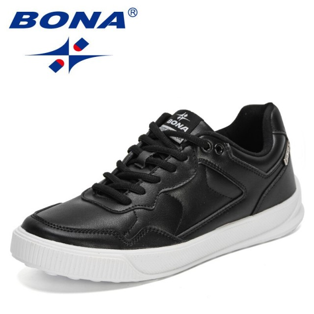 BONA 2021 New Designers Platform Walking Shoes Comfortable Breathable Non-slip Sneakers Men Leisure Vulcanized Shoes Masculino