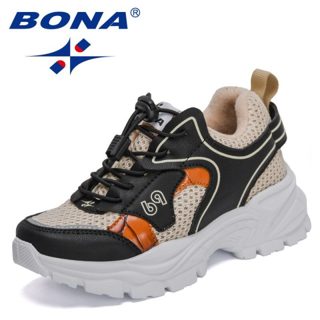 BONA 2021 New Designers Children Shoes Breathable Comefortable Kids Sneakers Fashion Casual Sports Shoes Child Sport Footwear