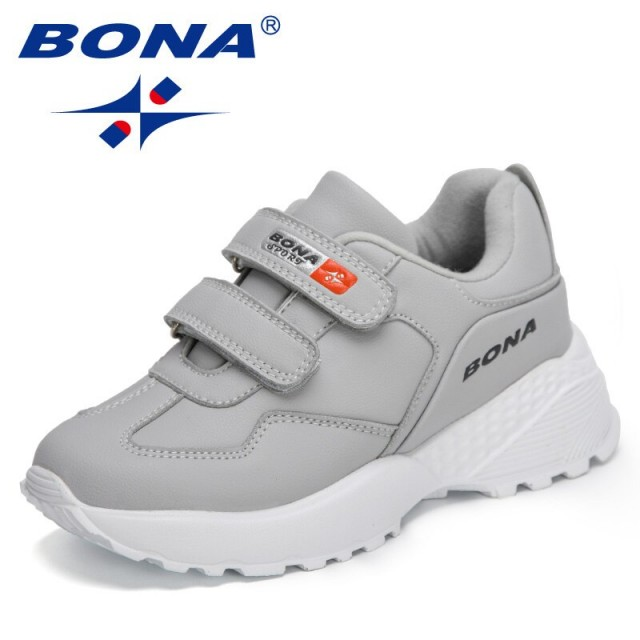 BONA 2021 New Designers Sports Shoes Boys' Running Shoes Leisure Breathable Walking Shoes Kids Lightweight Sneakers Children