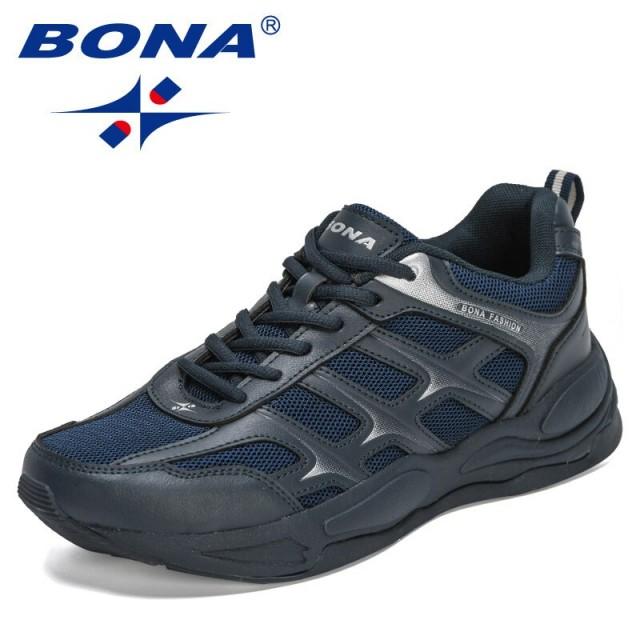 BONA 2021 New Designers Running Shoes Comfortable Sport Shoes Men Trendy Lightweight Sneakers Man Breathable Jogging Footwear