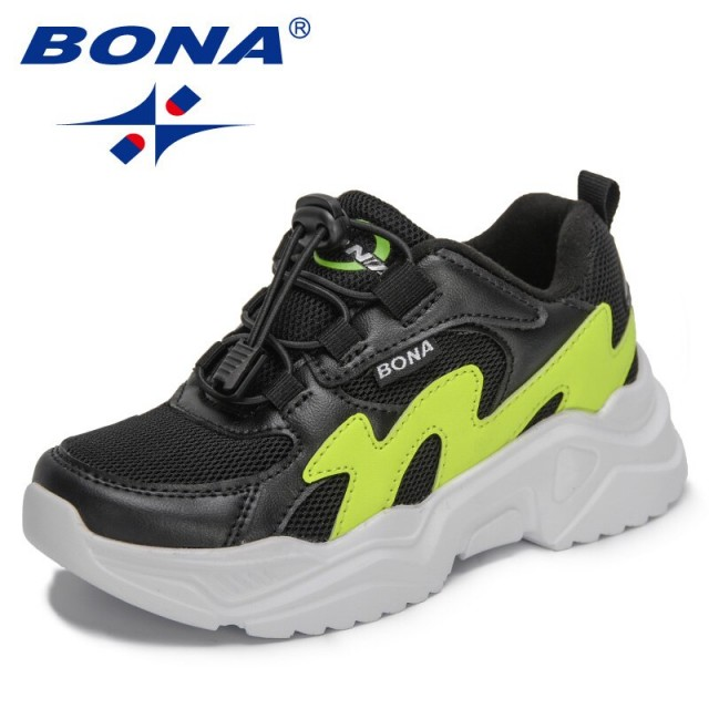 BONA 2021 New Designers Sports Shoes Casual Breathable Kids Fashion Sneakers Boys Girls Shoes Non-slip Outdoor Jogging Footwear
